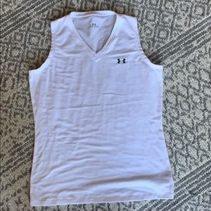 White UA workout top
